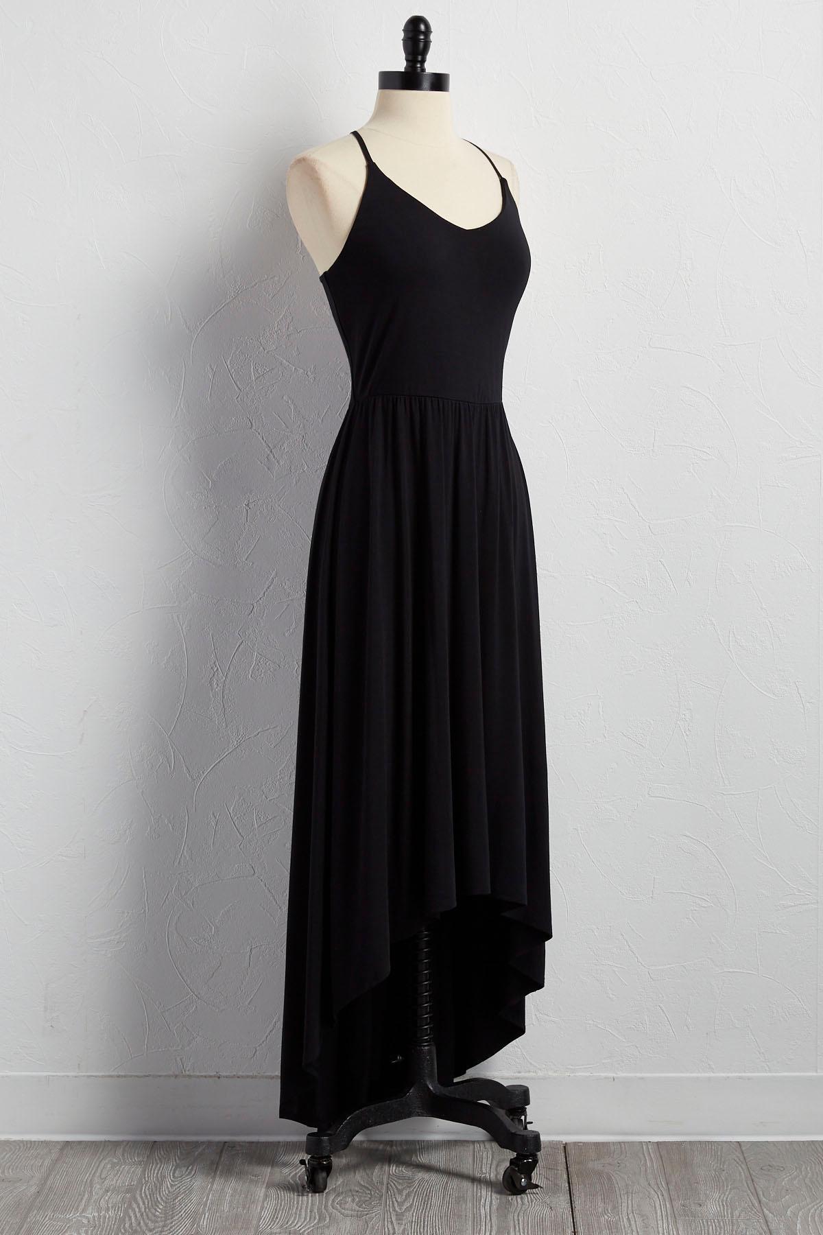 Lattice Back High- Low Maxi Dress