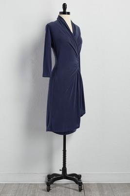 wrap sheath dress
