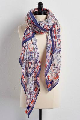 morrocan paisley square scarf