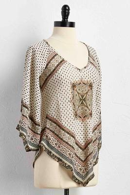 border print bare shoulder top