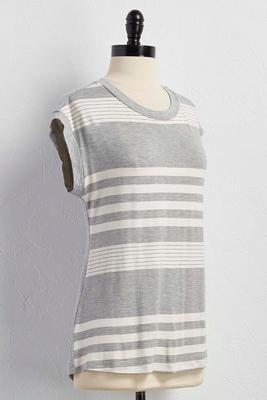 striped front dolman top