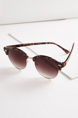half frame tortoise shell sunglasses
