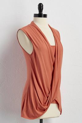 draped surplice layered top