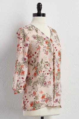 flyaway floral top