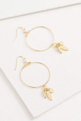 charm hoop earrings