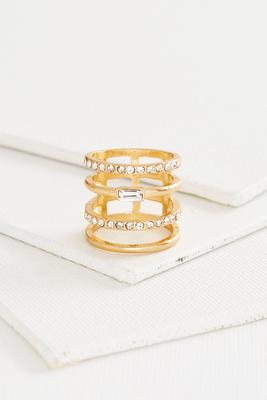 open pave bar ring