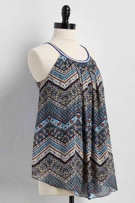 mixed chevron swing tank