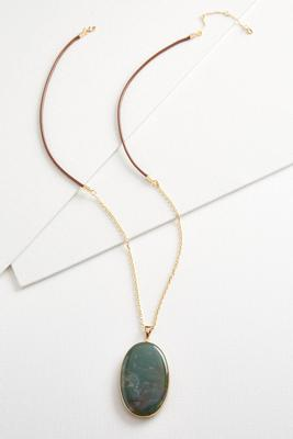 semi-precious pendant necklace