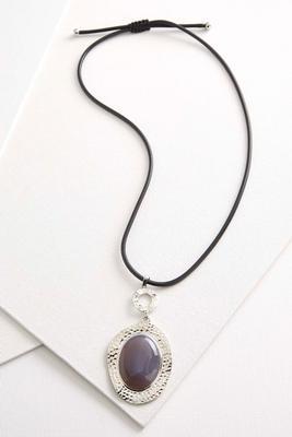 semi-precious cord necklace