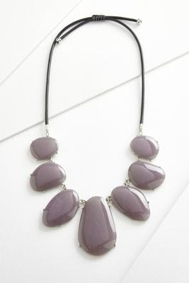 marble stone cord necklace