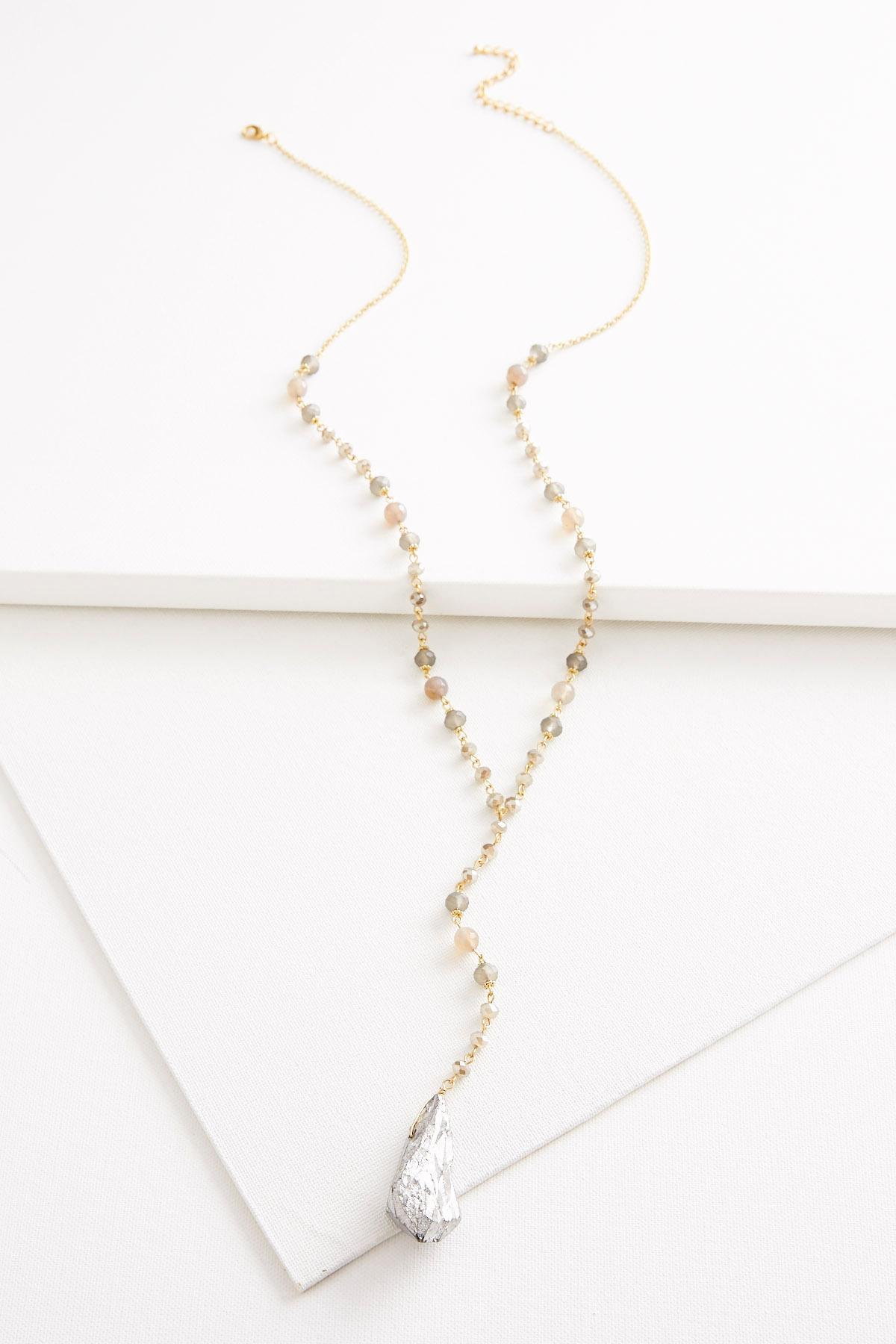 Beaded Semi- Precious Y- Necklace