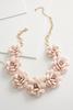 Flower Cluster Bib Necklace