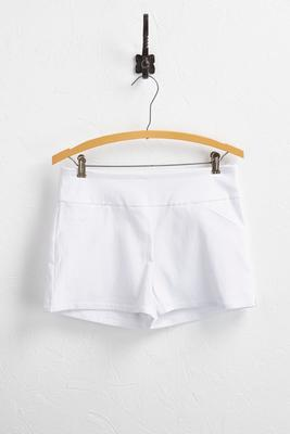 textured pull-on shorts