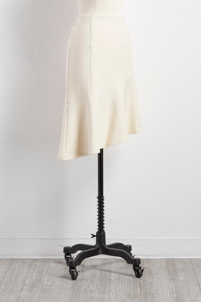 Flounced Asymmetrical Hem Skirt