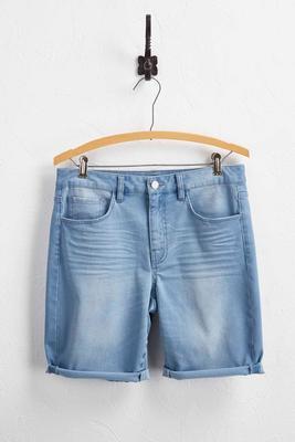 ridged bermuda jean shorts