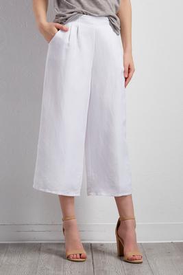 linen blend culottes