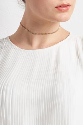 brass beaded chain choker