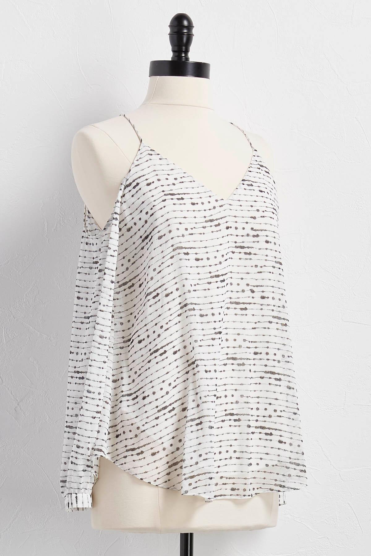 Graphic Bare Shoulder Top
