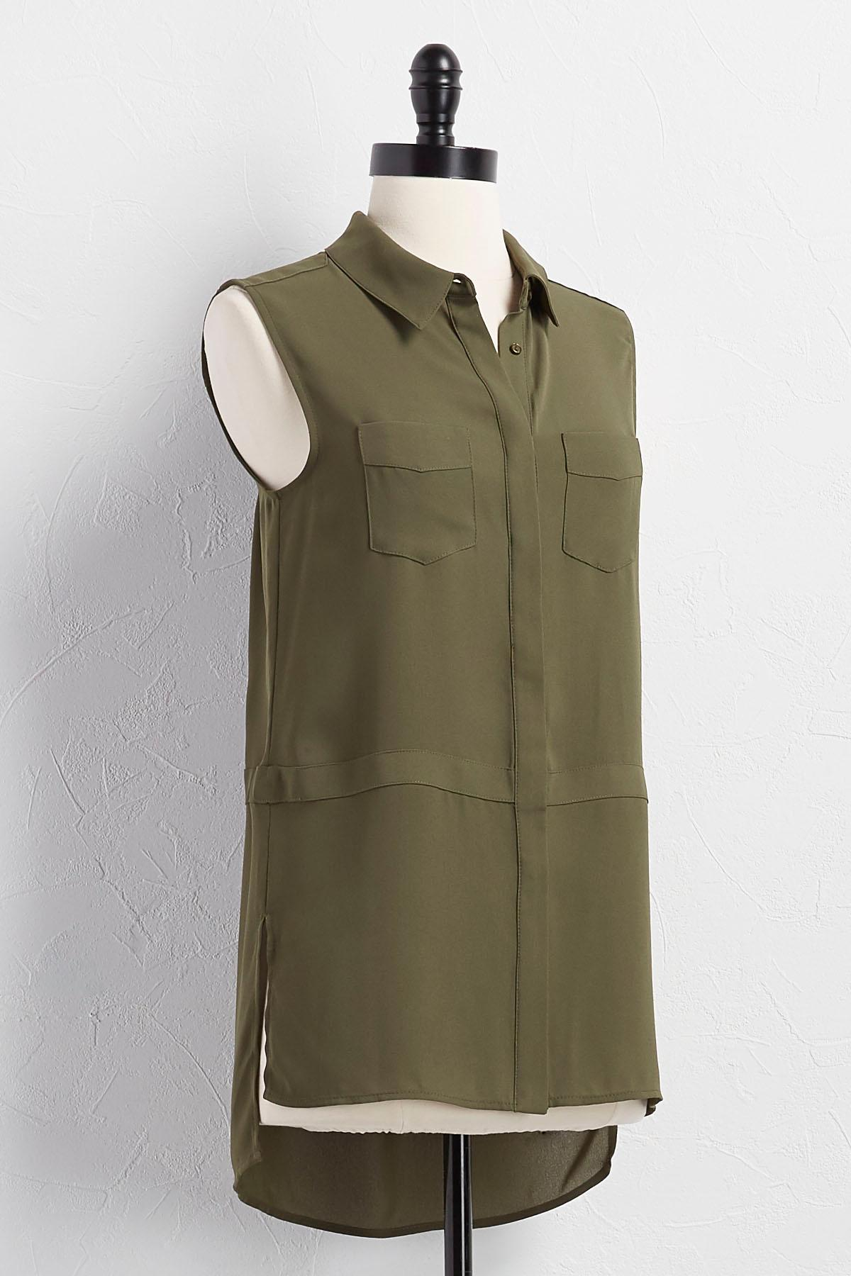 Button Down Utility Tunic
