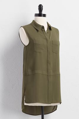 button down utility tunic