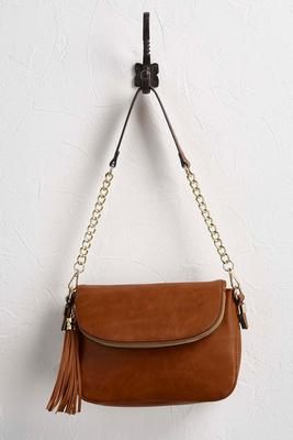 tasseled saddle bag