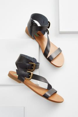 double buckle gladiator sandals