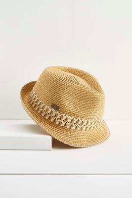 woven band fedora hat