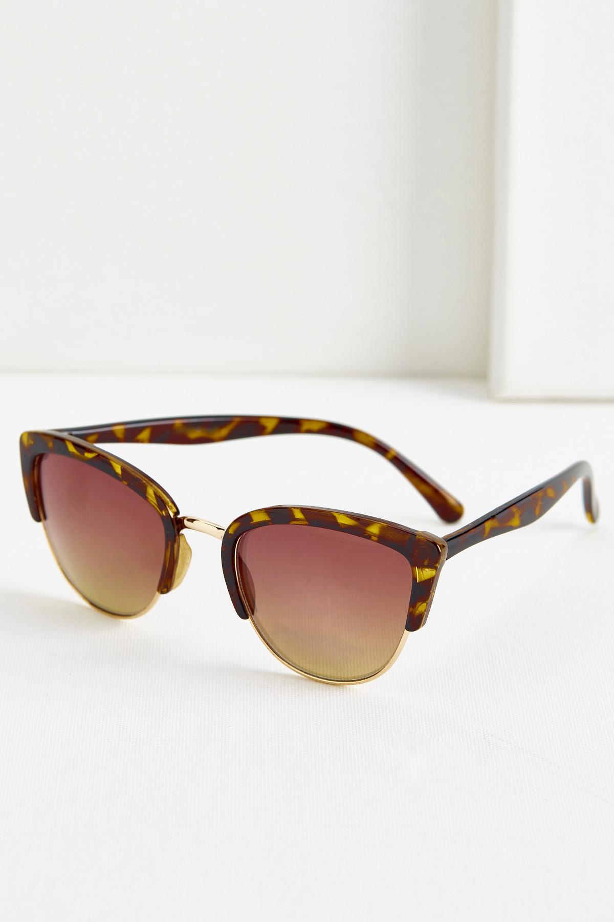Pink Lens Tortoise Shell Sunglasses