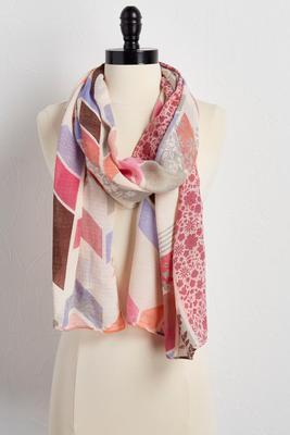 chevron floral oblong scarf