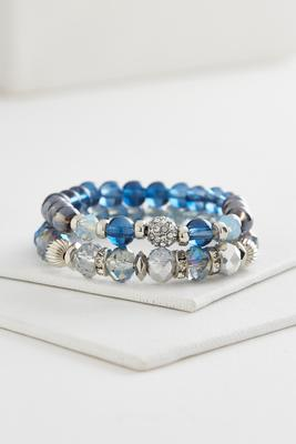 mixed bead stretch bracelet set