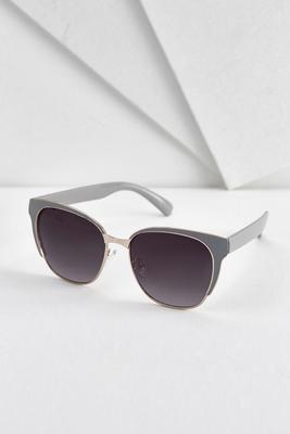metal trim cateye sunglasses