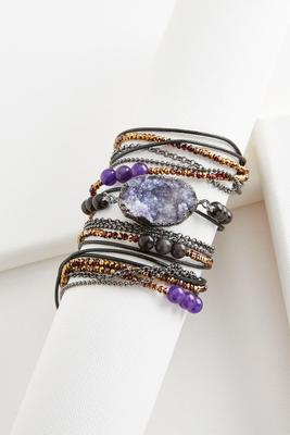 beaded semi-precious wrap bracelet