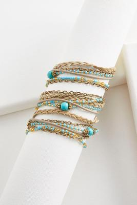 semi-precious wrap bracelet