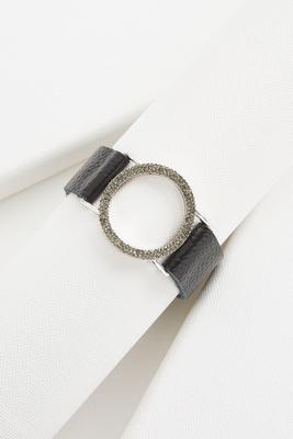 rhinestone cutout circle bracelet