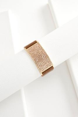 rhinestone plate snap bracelet