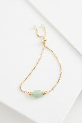 semi-precious chain bracelet