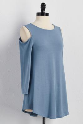 bare shoulder lounge tunic