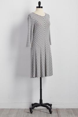 mitered stripe t-shirt dress