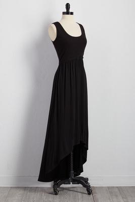 lattice back high-low maxi dress