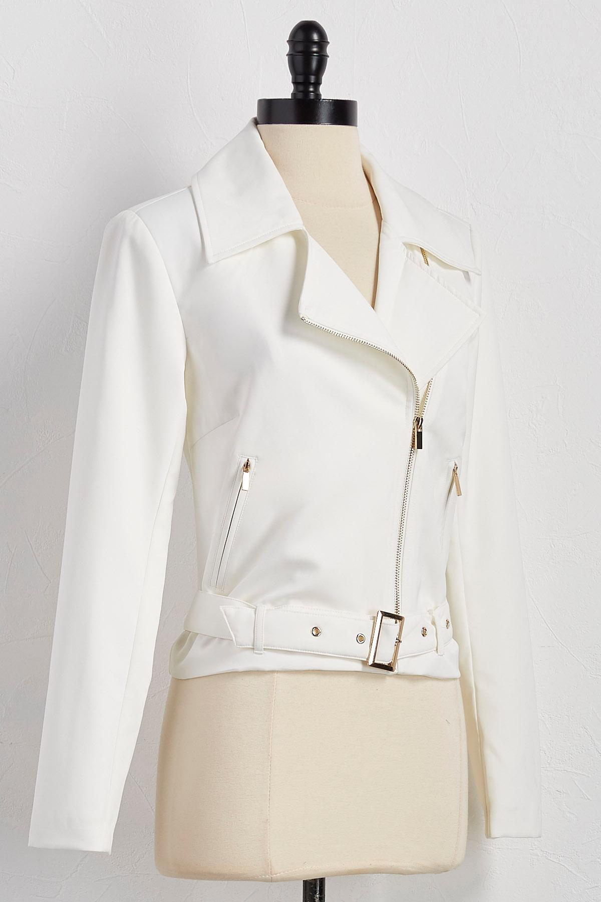 Belted Moto Jacket