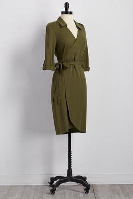 utility wrap shirt dress