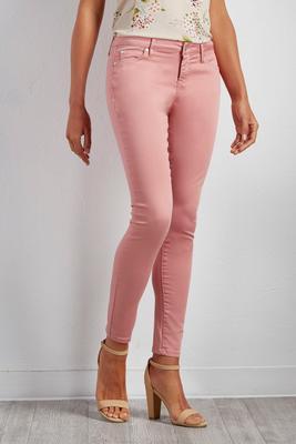 rose skinny pants