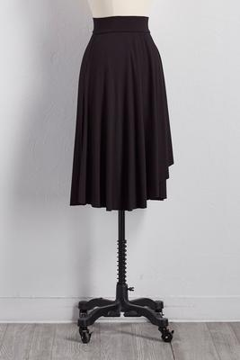 knit wrap a-line skirt