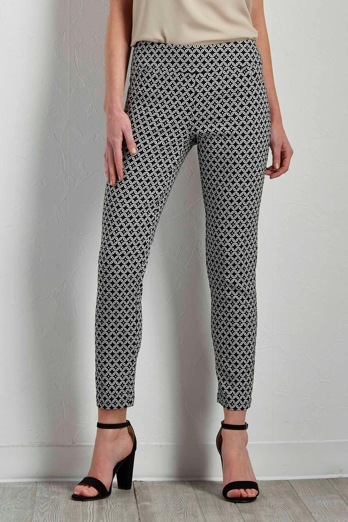 Graphic Diamond Ankle Pants