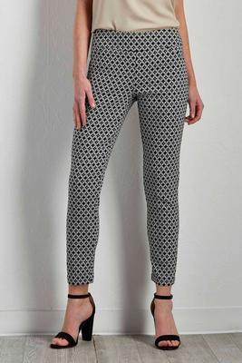 graphic diamond ankle pants