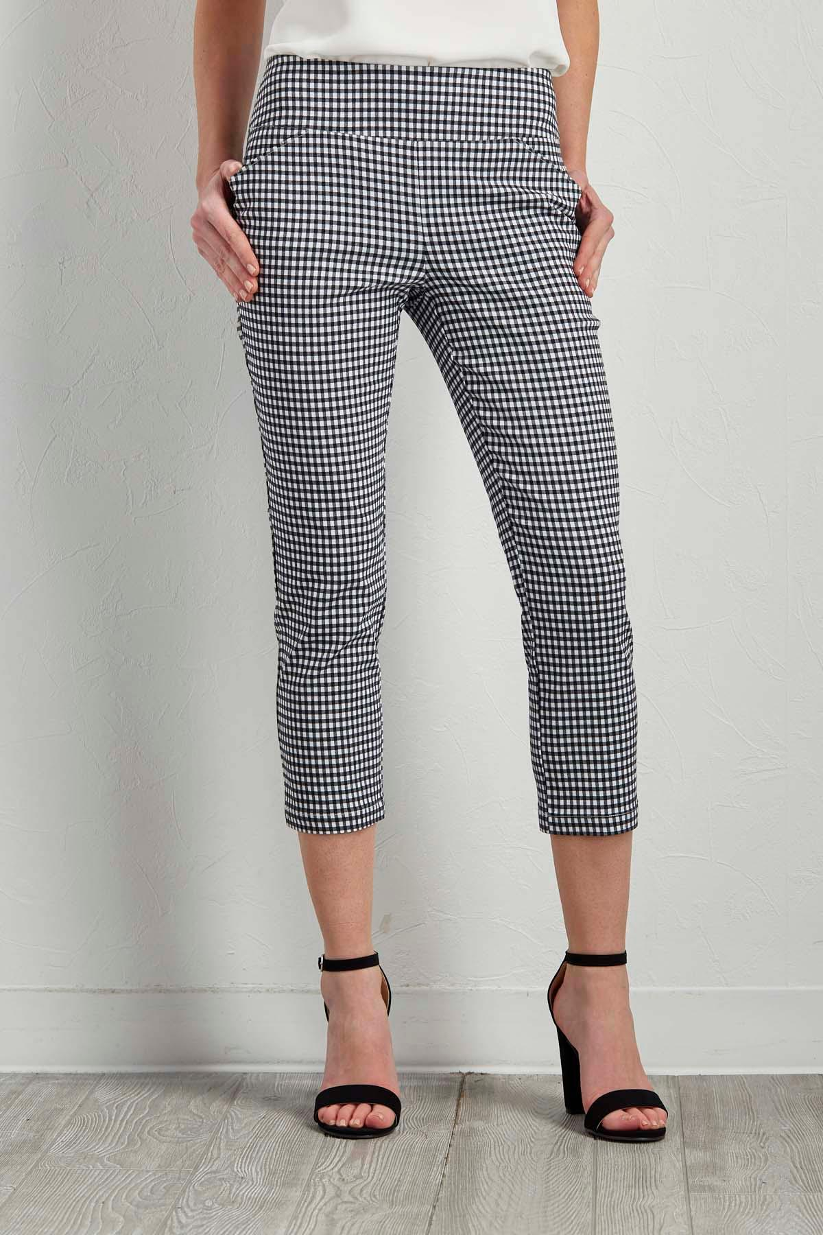 Gingham Crop Pants