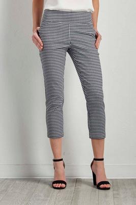 gingham crop pants