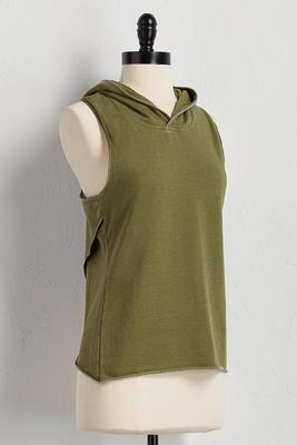 tulip back hooded lounge tank