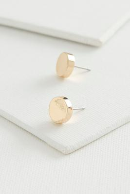 metal disc stud earrings
