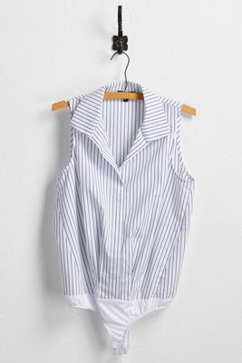 striped snap button bodysuit